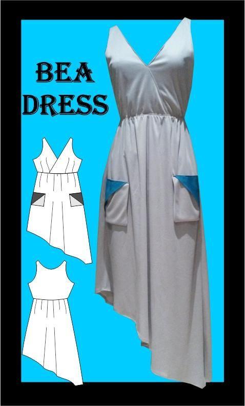 Bea Dress Sewing Pattern, athleisure fashion