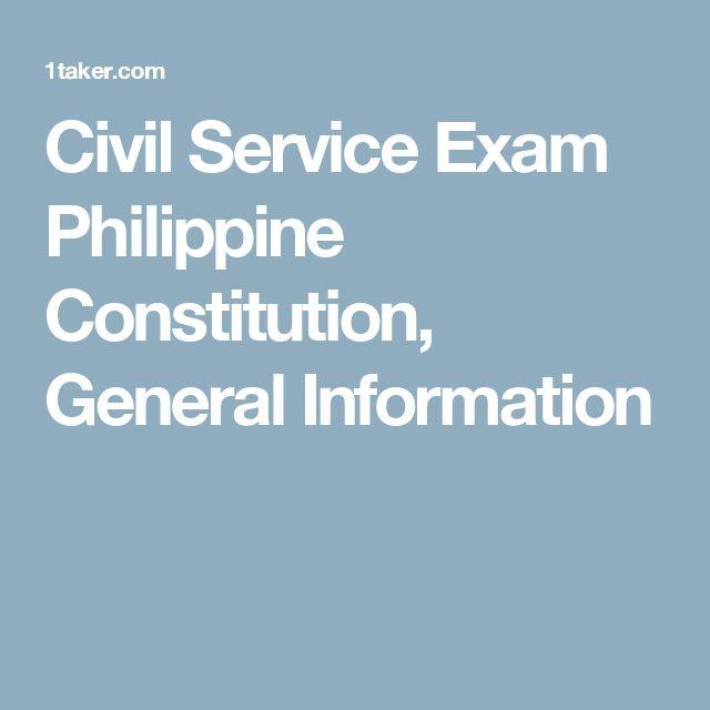 Civil Service Exam Philippine Constitution, General Information