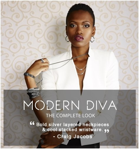 """#Trends #ModernDiva The Complete Look @AmericaSwiss -  """"Bold silver layered neckpieces & cool stacked wrist ware""""- @Craig Johns Johns Jacobs #IHEARTSWISS http://www.americanswiss.co.za/trends/womens-trends/modern-diva/#"""