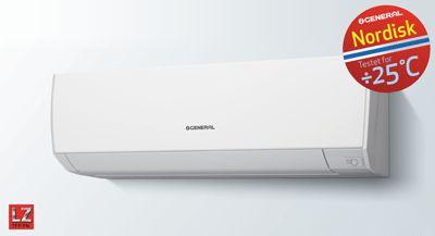 Råtassen varmepumpe fra produktoversikt | General  Rask og effektiv oppvarming med norges råeste varmepumpe! Denne råtassen er sannsynligvis den sterkeste varmepumpene som er laget. Varmeveksleren har en kapasitet som er omtrent dobbel så stor som konvensjonelle modeller og den blåser også 13% mer varm eller kald luft. Råtassen varmepumpe (ASHG09LZ) yter veldig mye samtidig som den forbruker lite energi. Modellen sparer faktisk så mye energi at den har oppnådd en topp A+++ rangering!