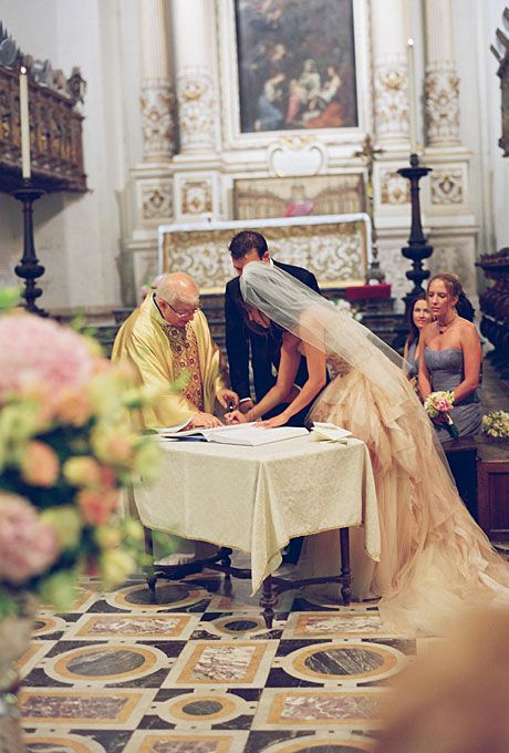 Traditional Italian church wedding