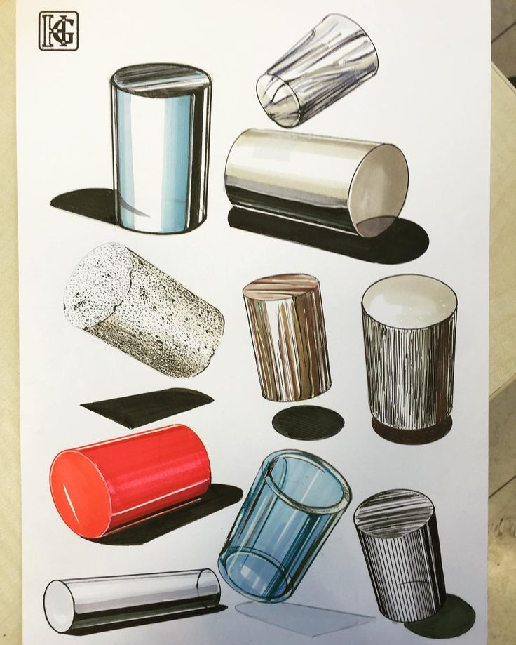 Material Culture ; cylinders  next week hw.#copicmarkers #copic…