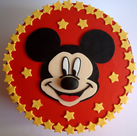 Mickey Mouse Fondant Cake Topper Mickey by SweetCakeByAnastasia