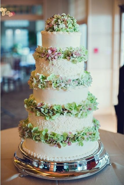 Five tier cake with beautiful florals. Photo by Ginny Corbett Photography. www.wedsociety.com #wedding #cake