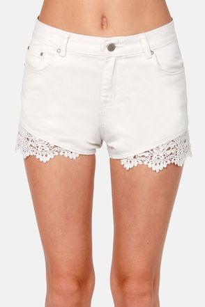 Lulu's Lace Jean Shorts