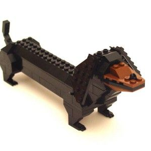Dachshund — Nathan Sawaya — The Art of the Brick -- really neat... wish this was a kit lego had for sale
