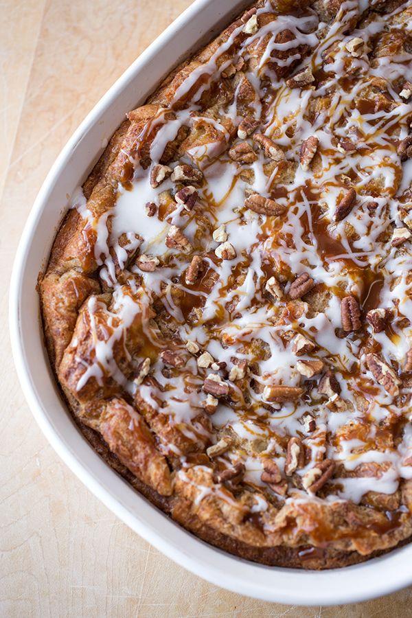 """Cinnamon Roll Breakfast """"Soufflé"""""""