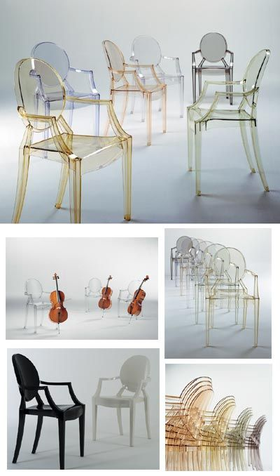plastic dining chairs louis ghost  Like it cos it's stackable & has arm-rests
