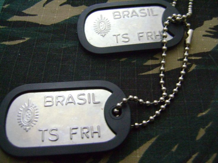 Medalha De Identificação Militar Dog Tag - Modelo Exército