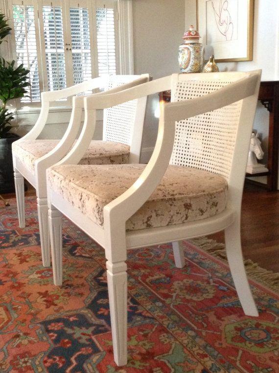 Vintage sedie di canna canna, una coppia