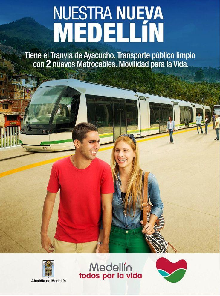 Nuestra Nueva Medellín avanza con el Tranvía de Ayacucho y dos nuevos Metrocables. Movilidad para la vida.