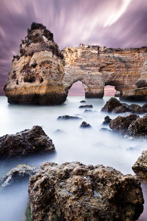 Unreal beauty.  Praia da Marina, Marina beach, Portugal  by Jorge Maia