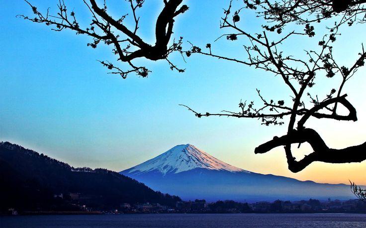 Mount Fuji-San from lake Kawaguchiko, JAPAN