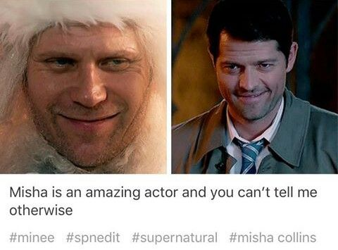 Yes, no doubt Misha is an amazing actor, but am I the only one who thought he looked like that Halloween photoshoot when he was dressed as Dean, imitating the blue steel?