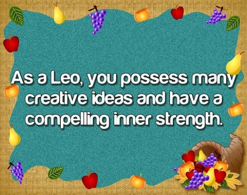 Leo zodiac sign, astrology and horoscope star sign meanings with many astrological pictures and descriptions. Free Daily Horoscope. http://www.free-horoscope-today.com/free-daily-horoscope.html