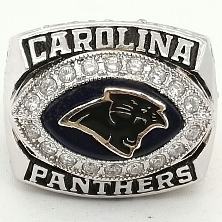 Wholesale NFC 2003 Carolina Panthers Super Bowl Zinc Alloy silver plated Custom Sports Replica World Championship Rings