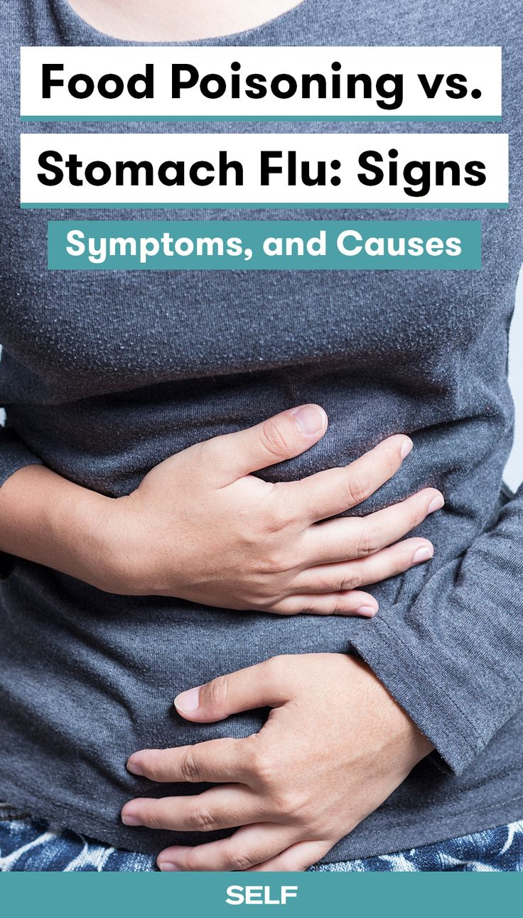 Having food poisoning (also known as foodborne illness) means your body is rebelling against viruses, bacteria, or other harmful substances in something you ate. The stomach flu, on the other hand, is what's known as viral gastroenteritis, and it happens when a virus causes an infection in your gut. Whether you have food poisoning or the stomach flu, we feel for you (and your bathroom). Here are the signs, symptoms, and causes you need to know.