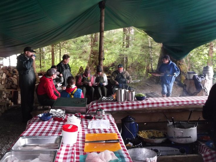 The chef 39 s area at the alaska fishing and wilderness for Alaska fishing camps