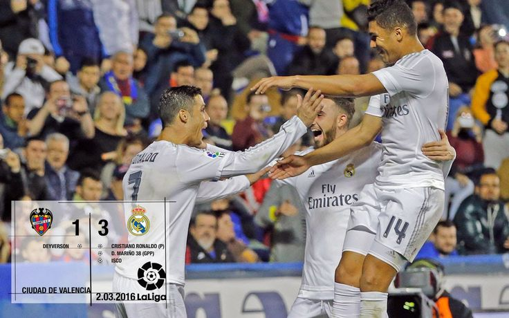 Sergio Ramos Levante 1-3 Real Madrid (La Liga 2015/16 matchday 27)