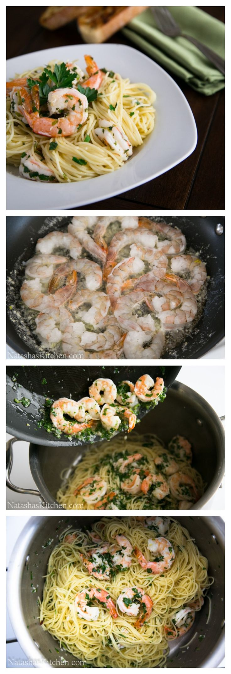 Lemon Shrimp Scampi with Angel Hair Pasta! Done in under 30 min! @NatashasKitchen