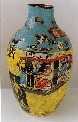 Grayson Perry! I used to make things like this. I called them visual poems. I call a lot of my work visual poems, coming from a lit background, wondering when I will start looking at what I do as art maybe!