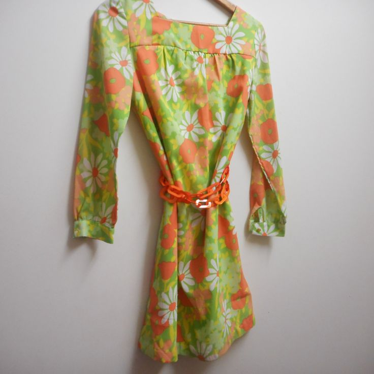 1960's shift dress by recycology on Etsy