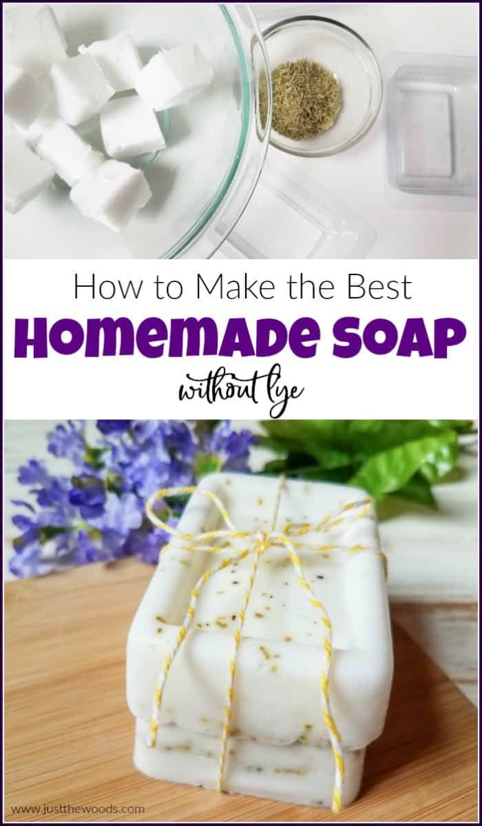 How To Make The Best Homemade Soap With Rosemary Easy Soap Recipes Handmade Soap Recipes Diy Soap Bars Without Lye