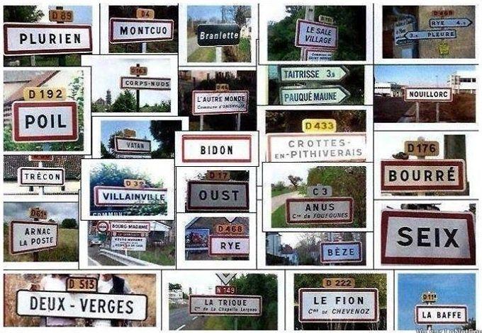 Découvrez les noms de villages français les plus délirants en 1 seule image