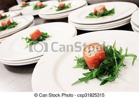 Stock Photo - salmon appetizer - stock image, images, royalty free photo, stock photos, stock photograph, stock photographs, picture, pictures, graphic, graphics