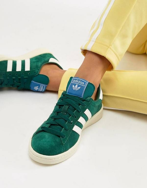adidas Originals Campus Sneakers With In Green | Adidas outfit ...