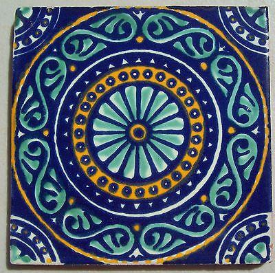 6 Mexicano Talavera Cerámica de 4 Pulgadas Azulejo Pintado A Mano Pared Arte Popular Venecia Italia CD   eBay
