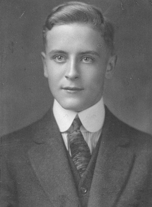 F. Scott Fitzgerald, aged 16.