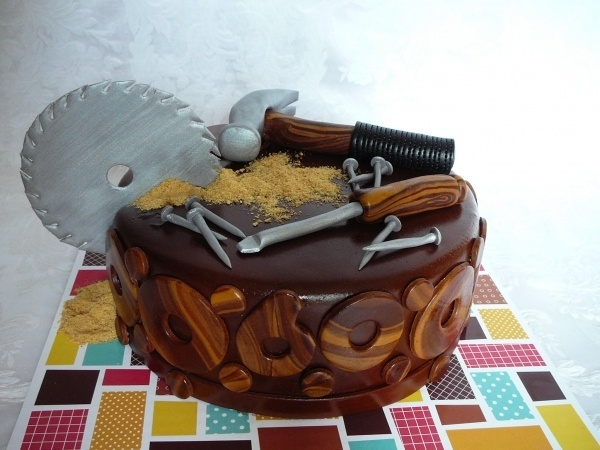 Amazing 80th Birthday Cake  Wood Worker  Awesome Cake Ideas