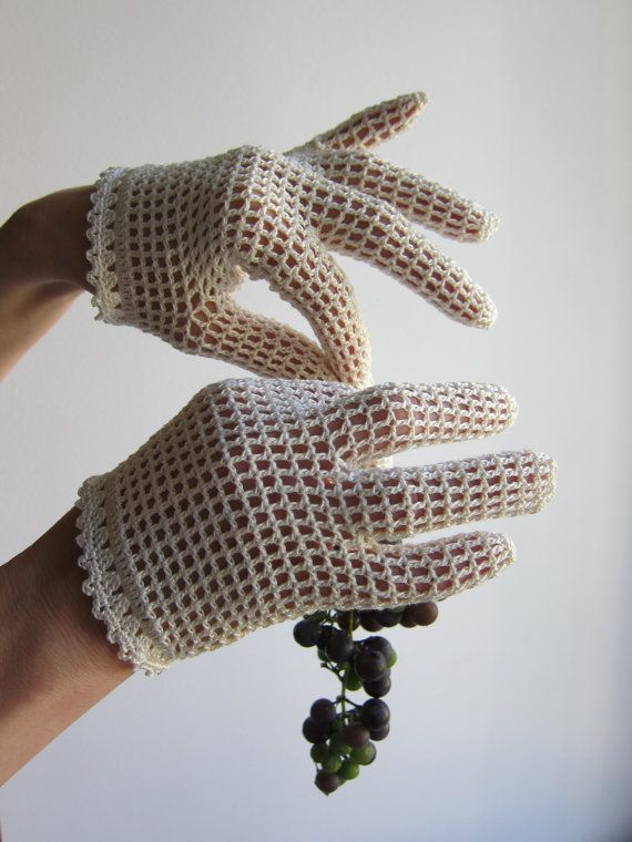 crochet gloves ~ a lady never went without her gloves. ;)