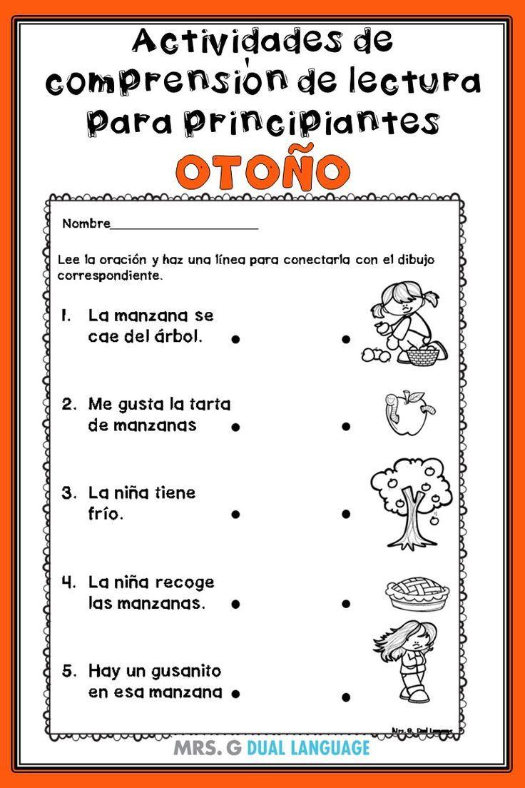 Actividades De Lectura Para Principiantes Spanish Reading Comprehension Activities Fo Spanish Reading Comprehension Reading Comprehension Learning Sight Words [ 1104 x 736 Pixel ]
