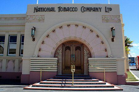 The Art Deco National      Tobacco Company building in Ahuriri, Napier