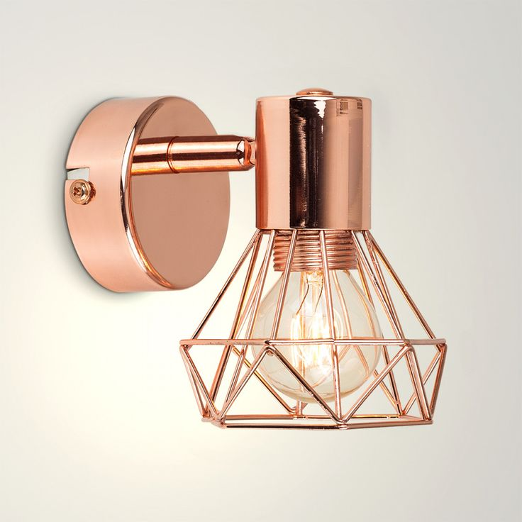 Angus Industrial Wall Light: Angus Industrial Wall Light In A Copper Finish In 2019