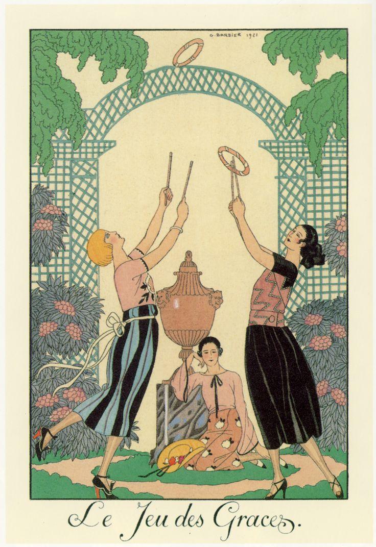 Art Deco master illustrator George Barbier fashion illustration