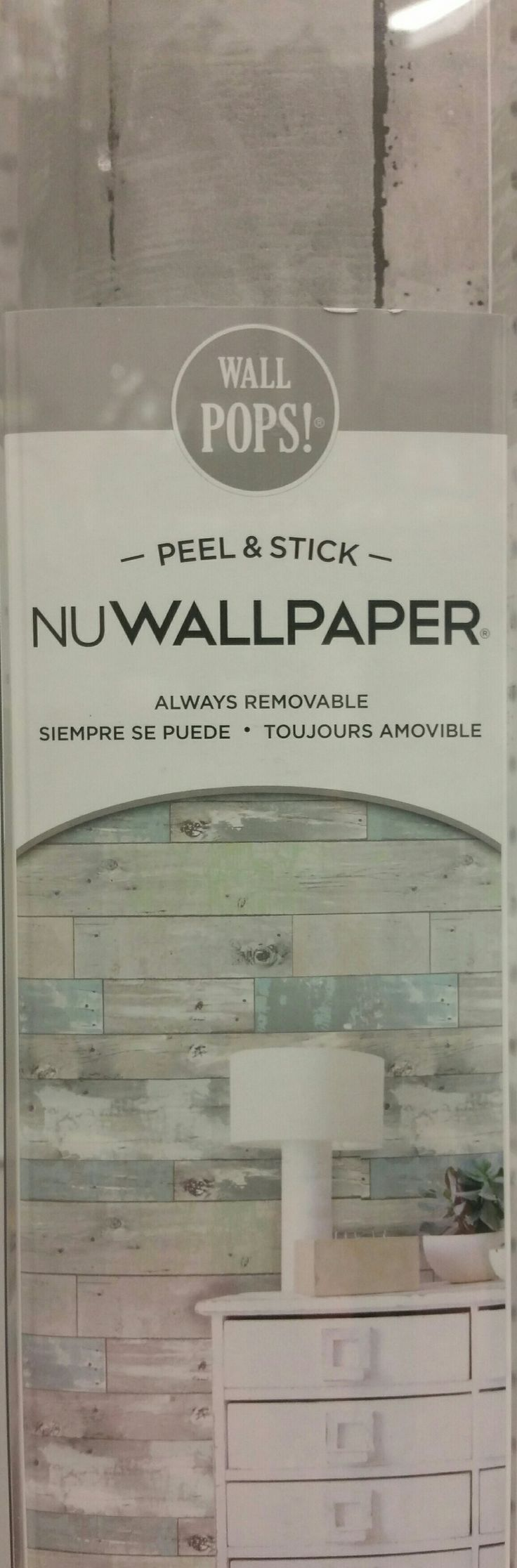 Great idea for renters who are not allowed to paint. Removable wallpaper for an accent wall. Not cheap, about $50.00, but could be worth a try. Found at JoAnns.