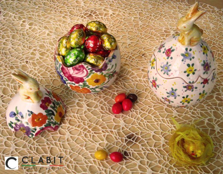 #Easter #Abruzzo #Pasqua #fioraccio #bunny #flowers #ceramic #handmade #coniglio #fiori #flowers #uovodipasqua #easteregg