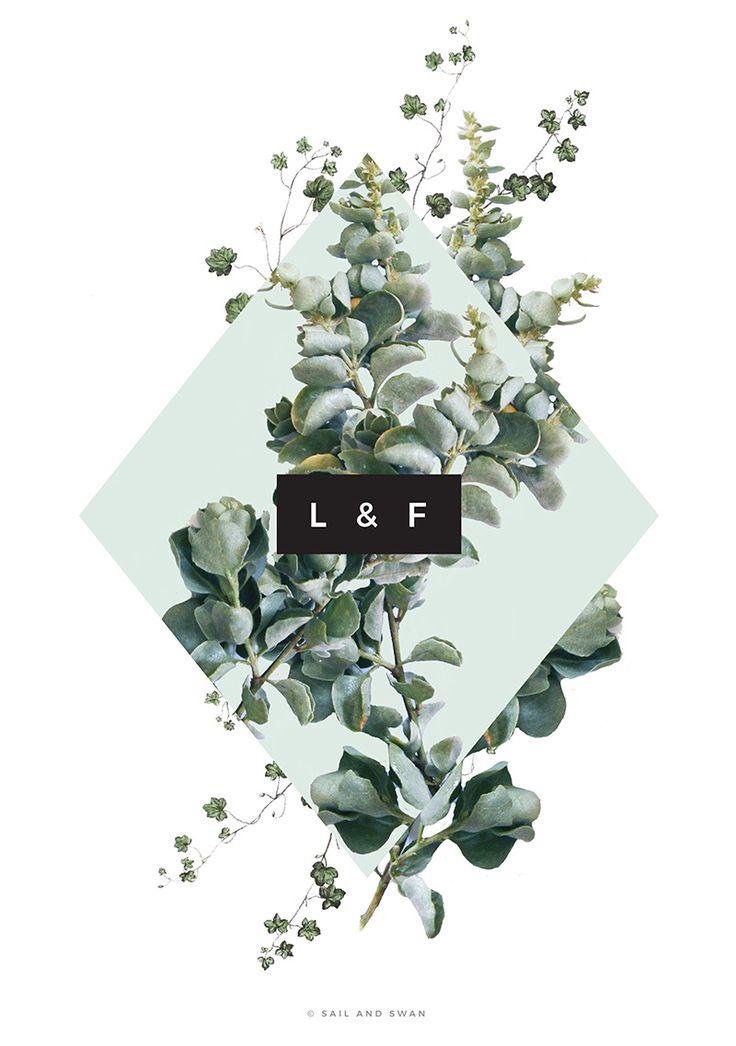Green Leaf Leaves Wedding Invitations Natural Native boho wedding invitations bohemian wedding invitations