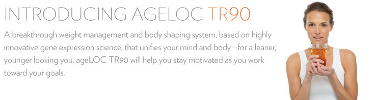 ageLOC TR90 (Gamma) is the first weight management product to actively reduce body fat and promote muscle mass. Changes the expression of genes involved with fat metabolism with all natural ingredients. https://www.nuskin.com/en_US/products/pharmanex/tr90.html