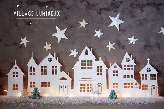 Ein Weihnachtsdorf ist eigentlich im Winter unentbehrlich im Haus…..Schau dir hier 8 einfach anzufertigende Weihnachtsdörfer an! - DIY Bastelideen