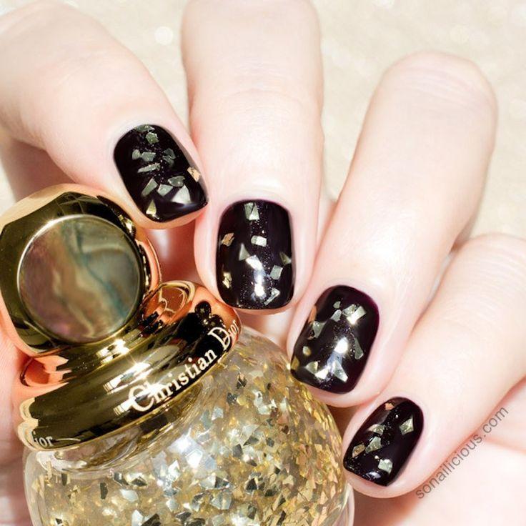 cliomakeup-nail-art-semplici-veloci-glitter-oro-dior