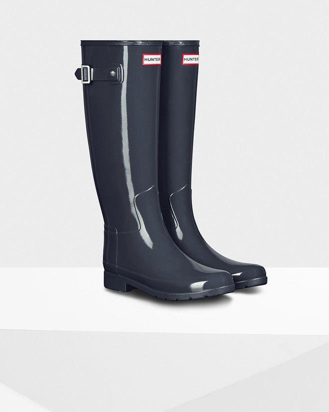 Original Refined Gloss Rain Boot   Dark slate
