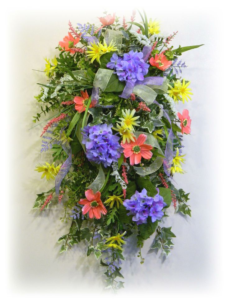 102 best Spring \u0026 Summer Swags images on Pinterest  Summer wreath, Flower arrangements and