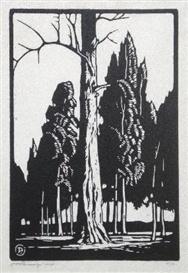 Jacob Hendrik Pierneef, Boomstam en Denneboom