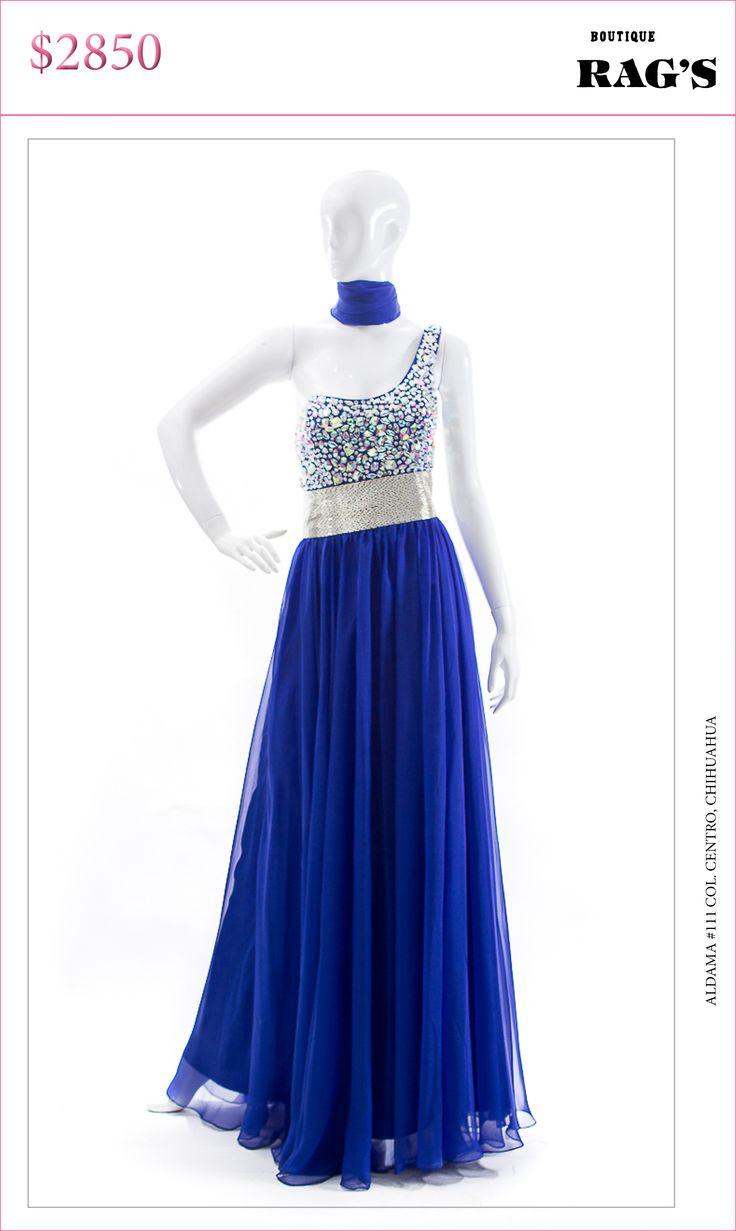 Vestido largo azul rey