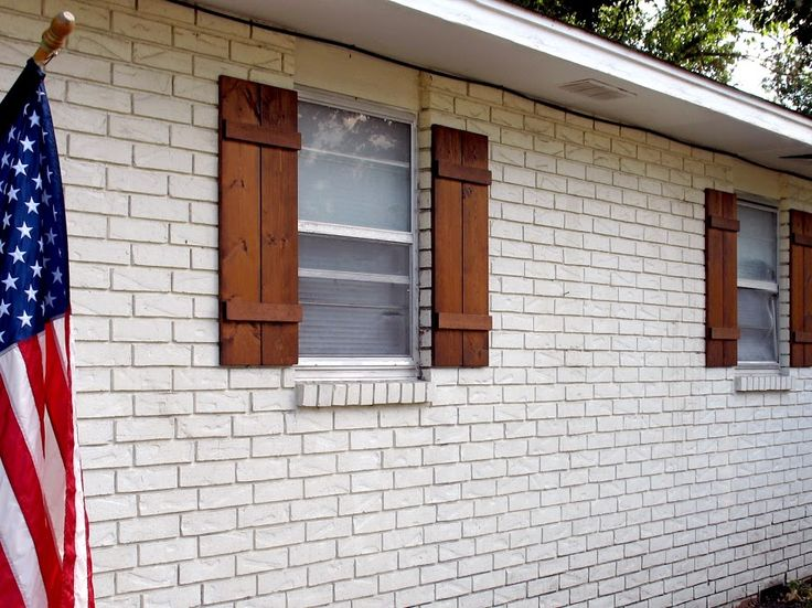 Wooden Board And Batten Shutters Simple And Straight