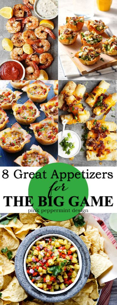 8 Great Appetizers for football parties and entertaining. Some of the yummiest, crowd pleasing recipes around.